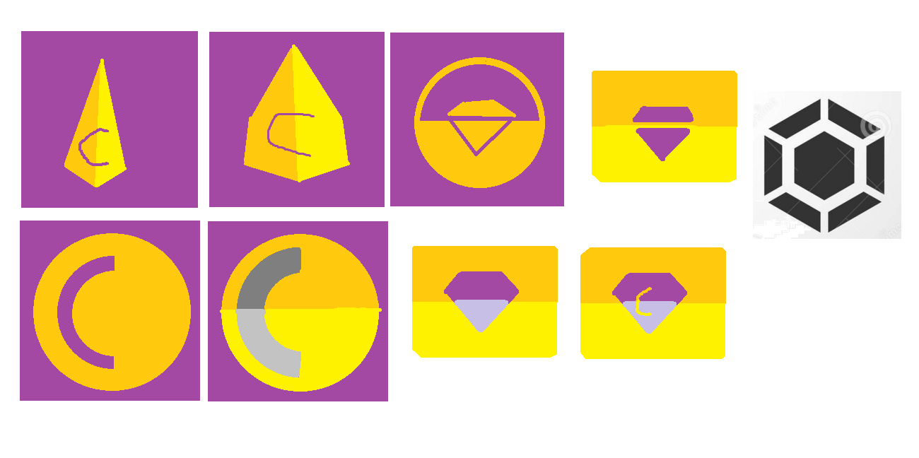 Hastily made design concepts created in MS Paint